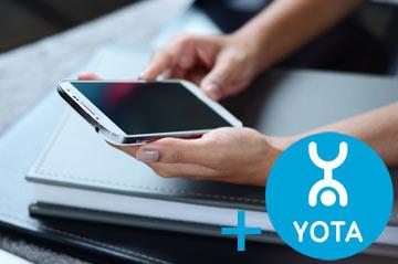 смартфон и Yota